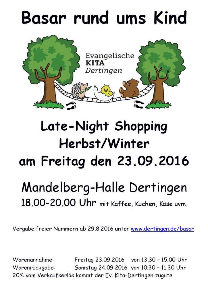 Plakat Basar Dertingen Herbst 2016 - Vorschau