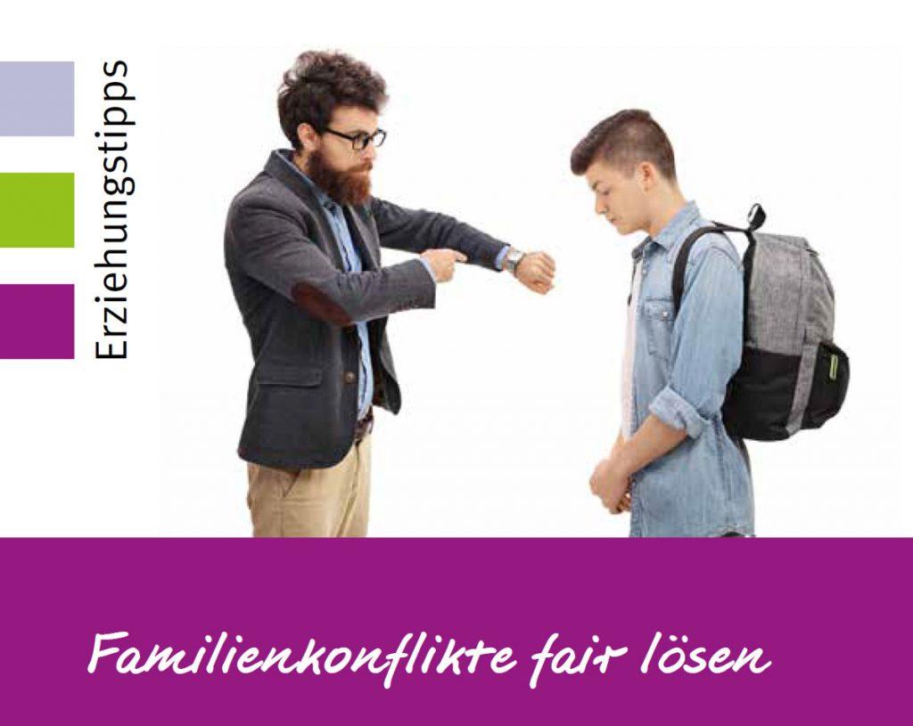 Wie Familienkonflikte auf gute Weise gelöst werden können, ist Thema der Elternkompass-Reihe am 30. April. Grafik: Stadt Wertheim